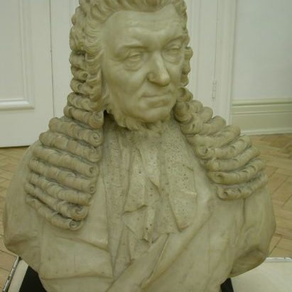 Bust of Matthew Davenport Hill Before Treatment