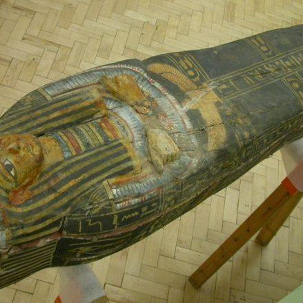 Polychrome coffin