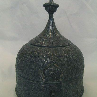 Persian Bell-shaped Box Before Treatment