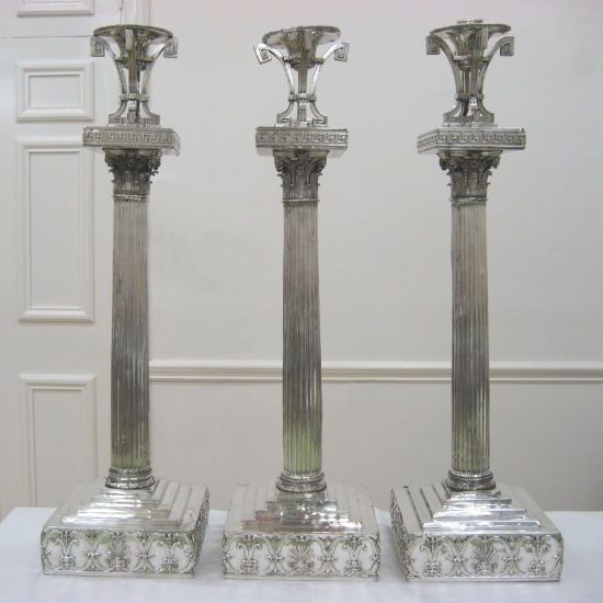 Masonic candlesticks After Treatment