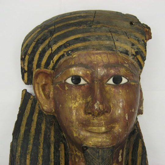 Polychrome Coffin Lid Before Treatment